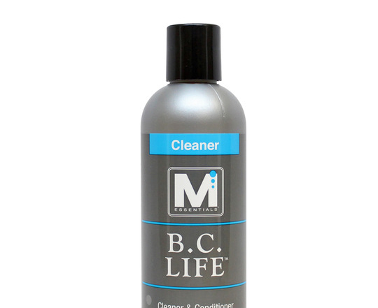 The Ideal Cleaning and Maintenance System for Your BCD  The more you dive, the more your buoyancy compensator device— or BCD—is exposed to salt, chlorine and organic compounds that can damage it, inside and out. Now M Essentials™ makes it quick and easy to clean and condition all types of BCDs with BC Life™ Cleaner & Conditioner. This complete and balanced maintenance system effectively removes salt and chlorine crystals from the inside of the bladder and breaks down salt and chlorine on the outside, too. With its silicone conditioning formula, BC Life extends the life of all BCD parts, from rubber fittings and valves to the shell. It's safe to use on all dive equipment and scuba gear.  Regular BCD cleaning and conditioning is important. And with BC Life Cleaner & Conditioner from M Essentials, it's easier than ever to keep dive gear cleaner and make it last longer.