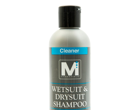 Wetsuit Wash Prevents Premature Aging In Wetsuits and Drysuits  You know the smell: wetsuit funk. It's not pretty, but it is preventable—and so is the chorine and salt damage that shortens the life of your expensive neoprene gear. Just use Wetsuit and Drysuit Shampoo by M Essentials™ on booties, gloves, fishing waders, LYCRA® body wear, and of course, wetsuits and drysuits. Our Wetsuit and Drysuit Shampoo works fast to remove organic residues like algae and bacteria, plus chlorine and salt deposits—so your neoprene gear smells fresher, stays supple and lasts much longer.  Preventing your own premature aging isn't easy, but for your favorite watersports gear, M Essentials makes it a snap—with our Wetsuit and Drysuit Shampoo. Remember, cleaning wetsuits means less funk and more fun.