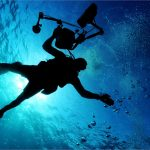 Scuba Diver Floating Underwater