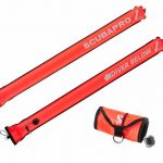 Scubapro-4.5ft-210D-Nylon-Orange-Rolled-Up