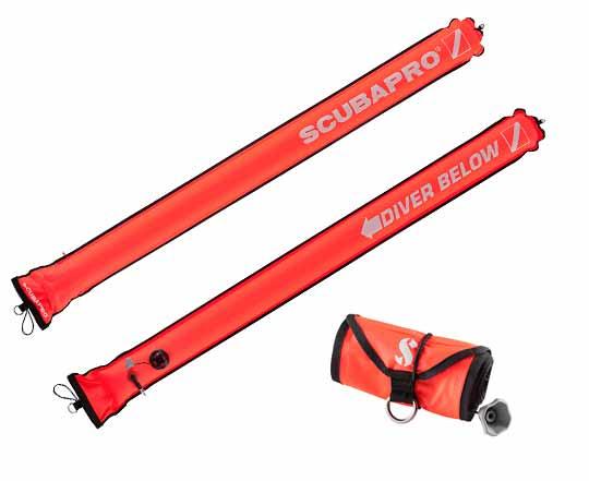 Scubapro-4.5ft-210D-Nylon-Orange-Rolled-Up