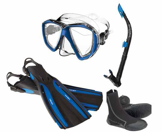 Oceanic-Mask-Snorkel-Fin-Package
